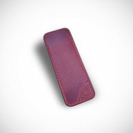 LE PETIT Cherry Red Racing Leather Sheath