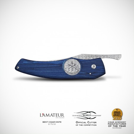 THE ORIGINAL - Damasteel Hugin - Blue Beech