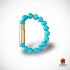 """Meet the lineup 6/8 🔎  TURQUOISE, The colorful 💎 The word turquoise dates back to the 17th century and is derived from the French turquois which means """"Turkish"""" because the mineral was first brought to Europe by Turkey. It adorns a beautiful cyanish-green color, based on the gem of the same name. ▫ PUNCH BRACELET® by LES FINES LAMES from 42€ / 49$ ➡️ Available September the 24th on Indiegogo - subscribe to the launch list and get notified: (link in bio)"""