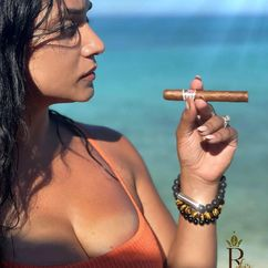Beach vacation? The first fashionable cigar accessory for her and for him that you can swim with. 💎💨😉 Photo Credit: @remarkable_liz ▫️ PUNCH BRACELET by LES FINES LAMES ➡️ Get yours on Indiegogo: https://igg.me/at/PunchBracelet (link in bio). Starting at 42€ / $49 