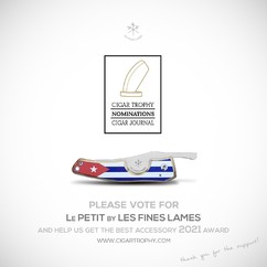 It's this time of the year again : @cigarjournalmag nomination for CIGAR TROPHIES are open. Please don't forget to cast your vote for LE PETIT by LES FINES LAMES as the Best Accessory 2021! 🔪🙏😉 Voting has started now at www.cigartrophy.com